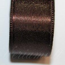 j0185 apie 10 mm, tamsi, ruda spalva, atlasinė juostelė, 10 m.