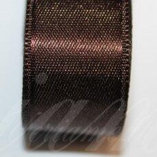 j0185 apie 30 mm, tamsi, ruda spalva, atlasinė juostelė, 10 m.