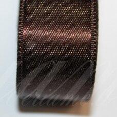 j0185 apie 5 mm, tamsi, ruda spalva, atlasinė juostelė, 1 m.