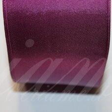 j0229 apie 5 mm, šviesi, violetinė spalva, atlasinė juostelė, 1 m.