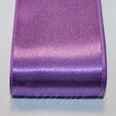 J0231 apie 20 mm, šviesi,  violetinė spalva, atlasinė juostelė, 1 m.