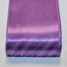 J0231 apie 5 mm, šviesi, violetinė spalva, atlasinė juostelė, 1 m.