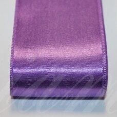 J0231 apie 5 mm, šviesi, violetinė spalva, atlasinė juostelė, 10 m.
