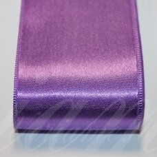j0231 apie 50 mm, šviesi, violetinė spalva, atlasinė juostelė, 10 m.