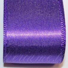 j0232 apie 20 mm, violetinė spalva, atlasinė juostelė, 1 m.