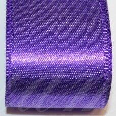 j0232 apie 20 mm, violetinė spalva, atlasinė juostelė, 10 m.