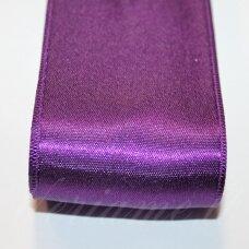 J0233 apie 20 mm, tamsi, purpurinė spalva, atlasinė juostelė, 1 m.