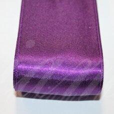 J0233 apie 5 mm, violetinė spalva, atlasinė juostelė, 1 m.