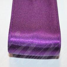 J0233 apie 66 mm, tamsi, purpurinė spalva, atlasinė juostelė, 1 m.