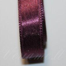 j0235 apie 20 mm, tamsi, violetinė spalva, atlasinė juostelė, 1 m.