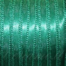 J0240 apie 20 mm, žalia spalva, atlasinė juostelė, 1 m.