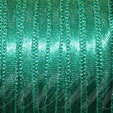 j0240 apie 38 mm, žalia spalva, atlasinė juostelė, 10 m.