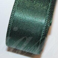 J0243 apie 38 mm, tamsi, žalia spalva, atlasinė juostelė, 10 m.