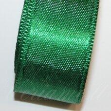 J0245 apie 20 mm, tamsi, žalia spalva, atlasinė juostelė, 1 m.