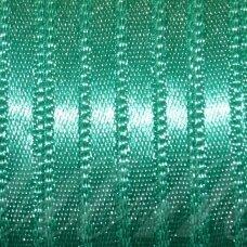 j0290 apie 20 mm, melsvai žalia spalva, atlasinė juostelė, 10 m.