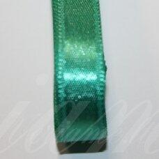 J0291 apie 20 mm, žalia spalva, atlasinė juostelė, 1 m.