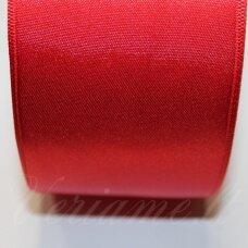 j0310 apie 30 mm, raudona spalva, atlasinė juostelė, 10 m.