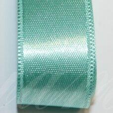 j0331 apie 10 mm, žalsva spalva, atlasinė juostelė, 10 m.