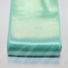 j0332 apie 50 mm, žalia, elektrinė spalva, atlasinė juostelė, 10 m.