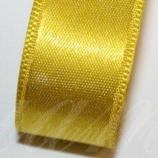 j0340 apie 30 mm, geltona spalva, atlasinė juostelė, 10 m.