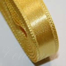 j0350 apie 10 mm, geltona spalva, atlasinė juostelė, 10 m.