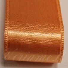 j0361 apie 10 mm, šviesi, oranžinė spalva, atlasinė juostelė, 10 m.