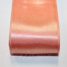 j0362 apie 10 mm, šviesi, oranžinė spalva, atlasinė juostelė, 10 m.