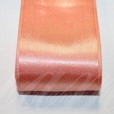 j0362 apie 50 mm, šviesi, oranžinė spalva, atlasinė juostelė, 10 m.