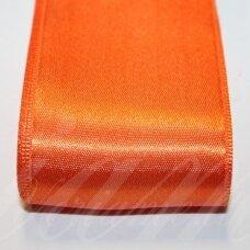 J0363 apie 38 mm, oranžinė spalva, atlasinė juostelė, 10 m.