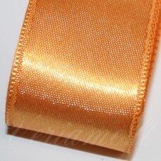 j0365 apie 10 mm, oranžinė spalva, atlasinė juostelė, 10 m.