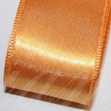 J0365 apie 66 mm, oranžinė spalva, atlasinė juostelė, 10 m.
