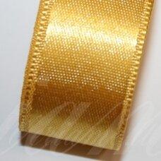J0370 apie 15 mm, geltona spalva, atlasinė juostelė, 10 m.