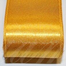 J0371 apie 38 mm, aukso spalva, atlasinė juostelė, 1 m.