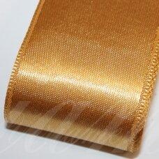 j0385 apie 38 mm, auksinė spalva, atlasinė juostelė, 1 m.