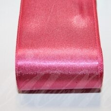 j0411 apie 50 mm, rožinė spalva, atlasinė juostelė, 10 m.