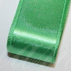 J0450 apie 38 mm, žalia spalva, atlasinė juostelė, 1 m.