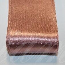 j0485 apie 50 mm, rusva spalva, atlasinė juostelė, 10 m.