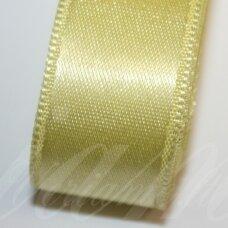j0550 apie 10 mm, šviesi, geltona spalva, atlasinė juostelė, 10 m.