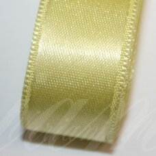 j0550 apie 50 mm, šviesi, geltona spalva, atlasinė juostelė, 10 m.