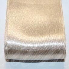 j0605 apie 50 mm, kreminė spalva, atlasinė juostelė, 10 m.