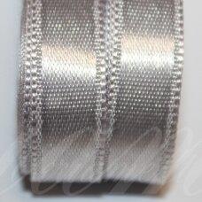 j0800 apie 50 mm, sidabrinė spalva, atlasinė juostelė, 10 m.