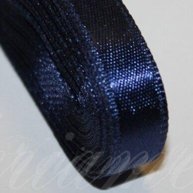 j0119 apie 66 mm, mėlyna spalva, atlasinė juostelė, 1 m.