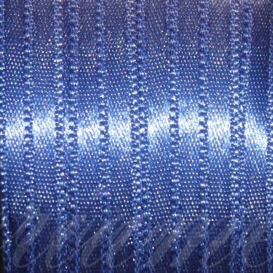 j0121 apie 20 mm, mėlyna spalva, atlasinė juostelė, 10 m.