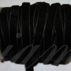 jak0013-09.5 apie 9.5 mm, juoda spalva, aksominė juostelė, 1 m.