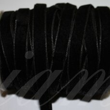 jak0013-12.7 apie 12.7 mm, juoda spalva, aksominė juostelė, 1 m.