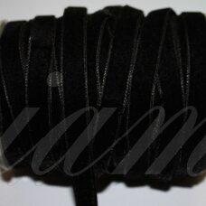 jak0013-38 apie 38 mm, juoda spalva, aksominė juostelė, 1 m.