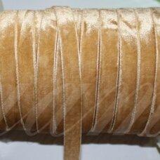 jak0017-06.5 apie 6.5 mm, šviesi, ruda spalva, aksominė juostelė, 1 m.