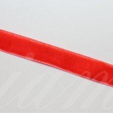 jak5009 apie 9 mm, raudona spalva, aksominė juostelė, 1 m.