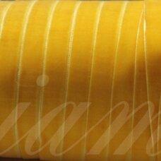 jak5008 apie 9.5 mm, geltona spalva, aksominė juostelė, 1 m.