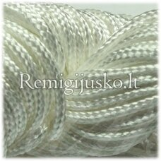 jasm0002 about 1.5 mm, white color, satin rope, bracelet weave, about 12 m.